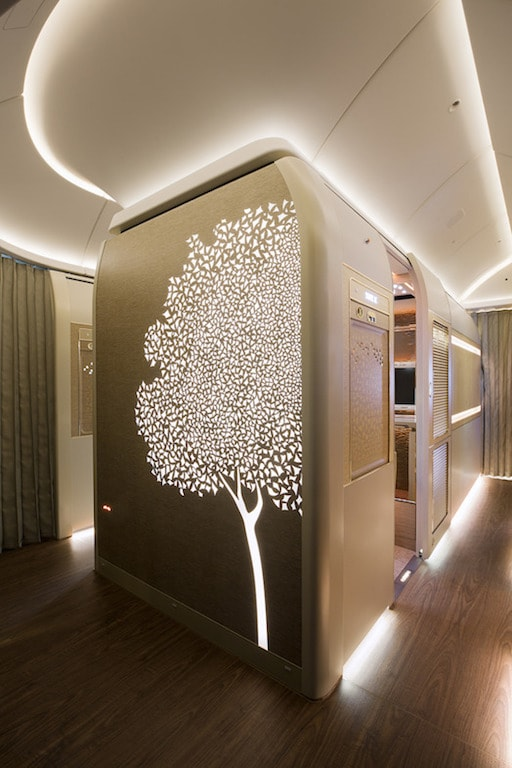 Emirates Boeing 777 First Class private suite outside 2