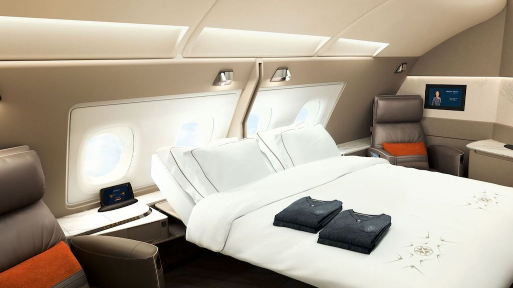Singapore Airlines Suites double bed