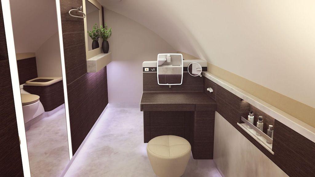 Singapore Airlines Suites lavatory 2