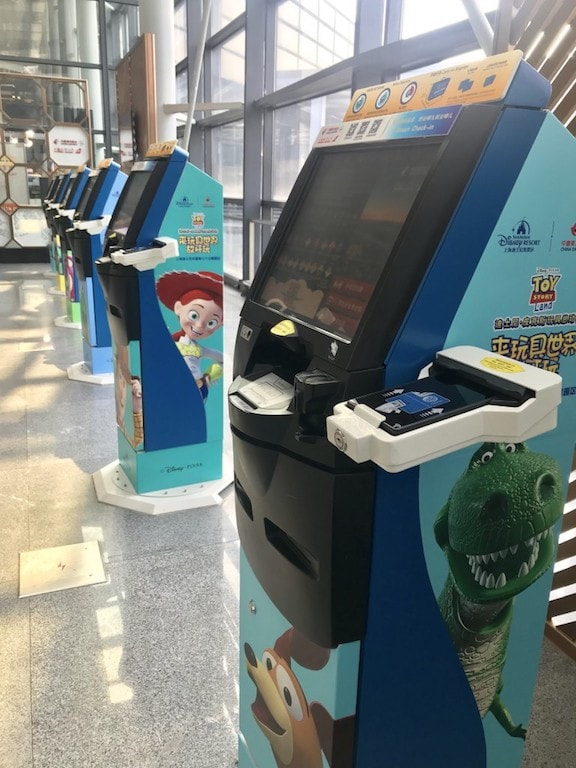 Toy Story check in machines